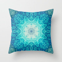 Blue Waves Throw Pillow by Sandra Arduini | Society6