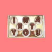I Want You Large Milk Chocolate Letters-Anniversary Valentines Gift for Husband Boyfriend Him-Made to Order