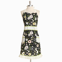 gardenia floral print apron - $28.99 : ShopRuche.com, Vintage Inspired Clothing, Affordable Clothes, Eco friendly Fashion