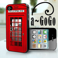 iPhone 4 case, London Phone Box Design, custom cell phone case