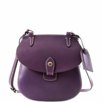 Dooney & Bourke Leather Happy Bag, Purple
