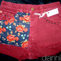 "30"" Vintage High Waisted COLORED LEVIS 550 Denim Shorts"