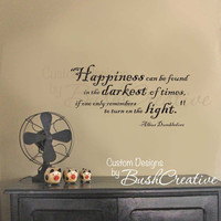 Wall Decal Harry Potter Happiness Quote by Dumbledore 012-28