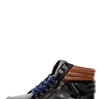 Bamboo Graphic 01 Black Lace-Up High Top Sneakers