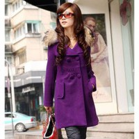 Stylish Korean Style Double-Breasted Design Dust Coat For Female China Wholesale - Sammydress.com