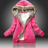 Fashionable and Warmly Long Sleeves Pu Coat For Women China Wholesale - Sammydress.com