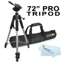 Amazon.com: Professional 72-inch TRIPOD FOR All Canon Sony, Nikon, Samsung, Panasonic, Olympus, Kodak, Fuji, Cameras And Camcorders + BP MicroFiber Cleaning Cloth: Camera & Photo