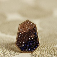 plum shimmer abstract ring at ShopRuche.com