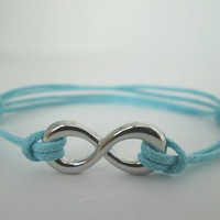 Turquoise Blue Infinity Bracelet