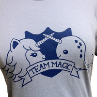 Unicorn Narwhal T Shirt - Team MAGIC Ringer Shirt - (Ladies Sizes S, M, L, XL)