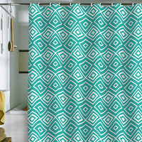 DENY Designs Home Accessories | Lisa Argyropoulos Diamonds Are Forever Aquatic Shower Curtain
