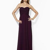 Lauren Ralph Lauren Strapless Ruched Gown | Bloomingdale's