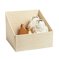 The Container Store > Linen Handbag Storage Bin