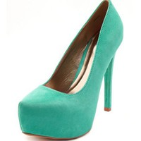 Sueded Uber Platform Pump: Charlotte Russe