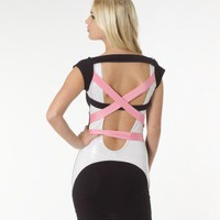 Quontum Contrast Strappy Back Dress - Lipsy