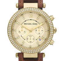 Michael Kors &#x27;Parker&#x27; Chronograph Leather Watch | Nordstrom