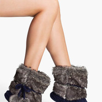 Make + Model Faux Fur Trim Slipper Socks | Nordstrom