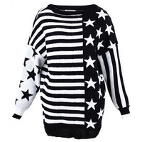 Stars And Stripes Black Jumper