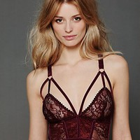 Free People Cut Out Longline Bra