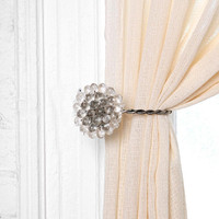 Antique Brooch Curtain Tie-Back- Clear One