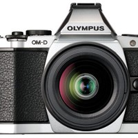 Olympus OM-D E-M5 16MP Live MOS Interchangeable Lens Camera with 3.0-Inch Tilting OLED Touchscreen (Silver) | www.deviazon.com
