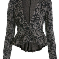 Paisley Peplum Blazer - Coats &amp; Jackets  - Apparel