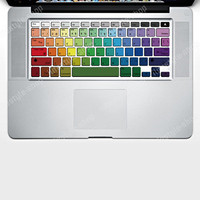 Rainbow Keyboard Vinyl Decal Laptop Sticker Skin for Apple MacBook Pro 13&quot;15&quot;17&quot;