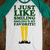 I Just Like Smiling (elf Baseball) - Fun Movie Shirts