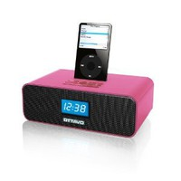 Amazon.com: Ottavo OT3040-P Speaker Docking Station 30-Pin with Alarm Clock FM Radio for iPods and iPod Touch w/ remote control- Pink: MP3 Players & Accessories