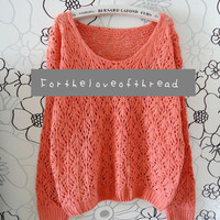 Pink Knit Sweater  by For the Love of Thread