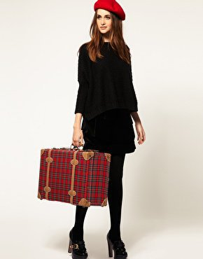 Pieces | Pieces Helfried Large Tartan Suitcase at ASOS