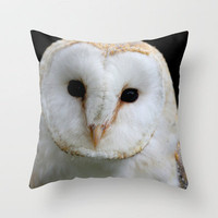 Barn Owl Throw Pillow by Sean Foreman | Society6