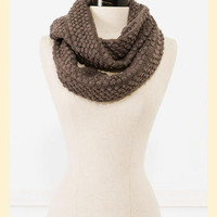 Endless Circle Scarf in Grey - Francesca's Collections