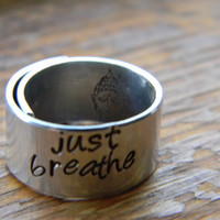 just breathe 3/8 inch wrapped  ring