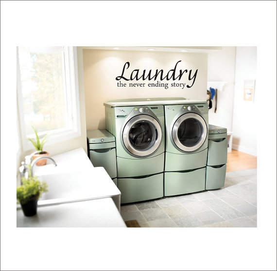 Laundry Room Vinyl Wall Decal Large Vinyl Wall Decor 16x46 on Wanelo