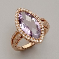 Dove's amethyst and diamond marquise ring | BLUEFLY up to 70% off designer brands
