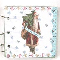 small 6 x 6 inch Christmas scrapbook photo album