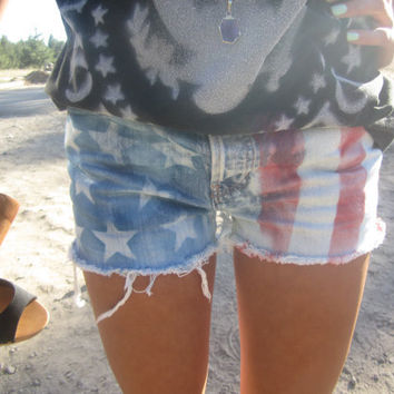 MADE TO ORDER american flag shorts all sizes by yourafever on Etsy