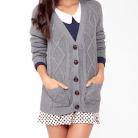 Diamond Patterned Cardigan | FOREVER21 - 2024509306
