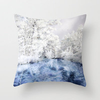 Frozen Beauty Throw Pillow by Vargamari | Society6
