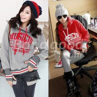 New Autumn Winter Women Cotton Hoodies Sweatshirts Long Sleeve letter Tops Free Shipping!  - US$15.51