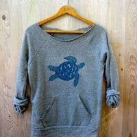 be still my Sea Turtle Sweatshirt, Turtle Sweater, Beach Top, S,M,L,XL