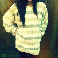 Vintage Oversized Striped Sweater