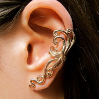Bronze Siren's Song Ear Cuff
