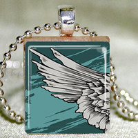 Angel Wing Scrabble Pendant With Ne.. on Luulla