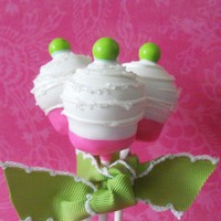 Pink & Lime Green Cake Pop by EntirelySweet on Etsy