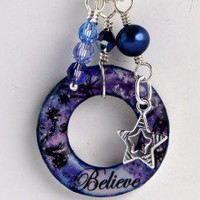 Handmade 'Believe' charm necklace hand made with Sterling Silver