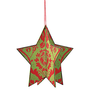 One Kings Lane - Season&#x27;s Best - Wood Damask Star Ornament