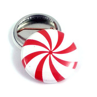 Peppermint Candy Holiday Season Pinback Button