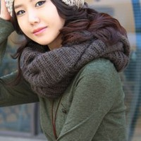 Hot Sale Korean Fashion Junior Scarves Dark Coffee : Wholesaleclothing4u.com